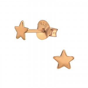 Rose Star Earrings