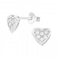 <!-- 118 -->Pave Heart Earrings