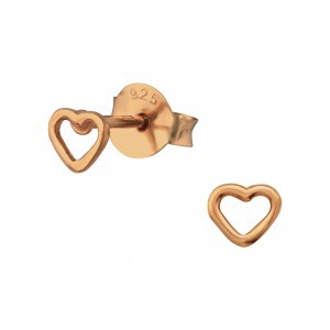 Rose Open Heart Earrings