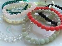 Chunky Semi-precious Bracelets