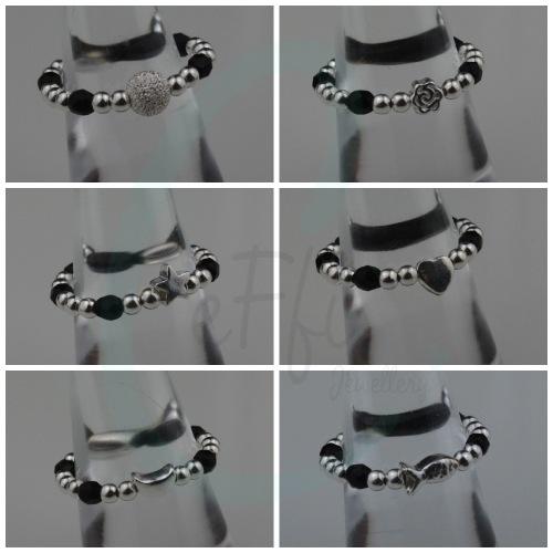Black Mini Colour Pop Ring