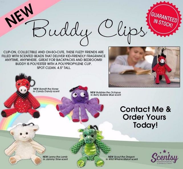 new buddy clips scentsy