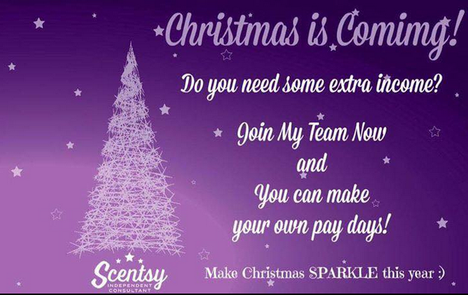 earn money for christmas scentsy