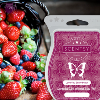 loe you berry much scentsy wick free candle wax bar