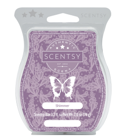 shimmer wick free scented candle wax bar scentsy