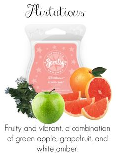 flirtatious wick free scented candle wax bar scentsy