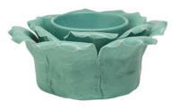 wickfree electric candle warmer scentsy green petal