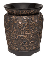 wickfree electric candle warmer scentsy bronze vine