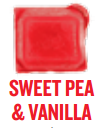 sweet pea and vanilla wickfree scented candle bar scentsy