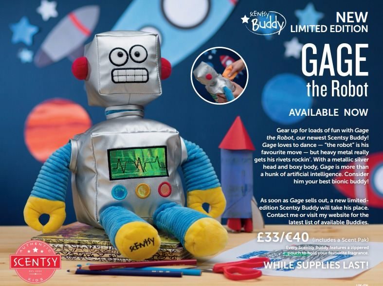 new buddy gaga the robot scentsy