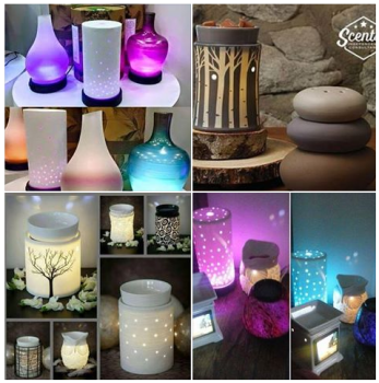 scentsy warmers and diffusers