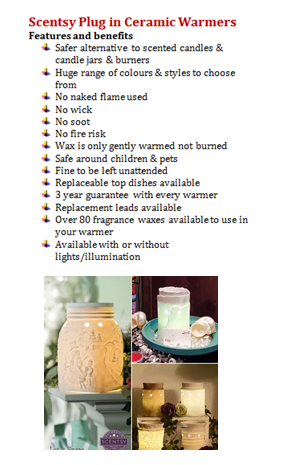 scentsy plug in ceramic warmers