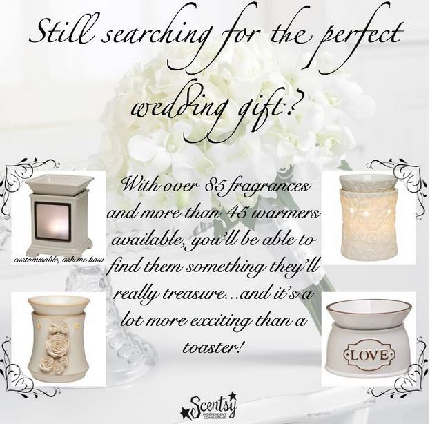 wedding gifts scentsy candles