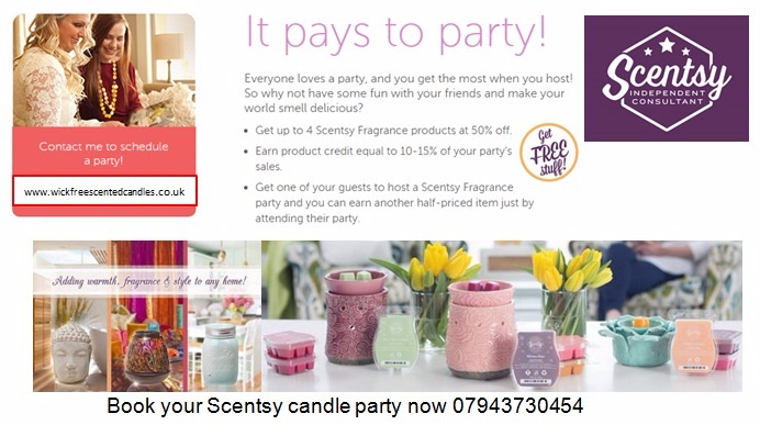 book a scentsy candle party