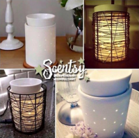 etched core scentsy wick free scented candle warmer with loom wrap