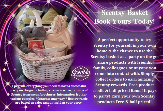basket party flyer scentsy