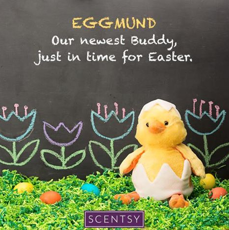 eggmund newest scentsy buddy easter