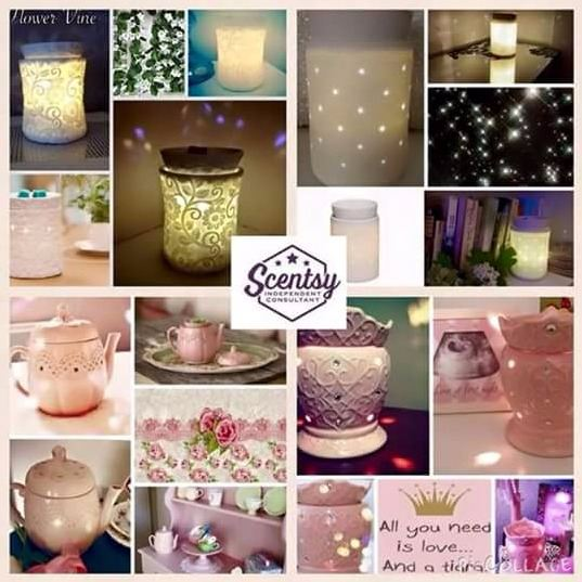 scentsy warmers light up range