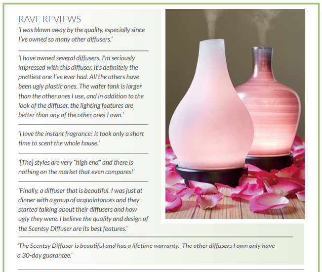 rave reviews scentsy diffuser