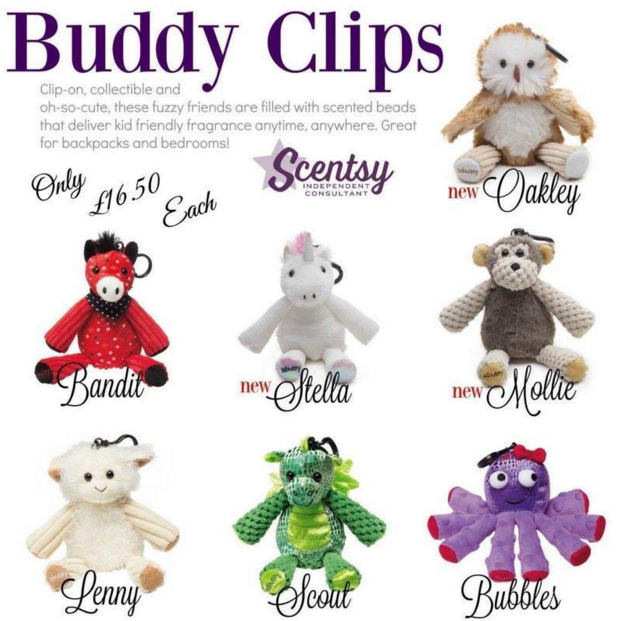 Scentsy Buddy Clips Scentsy Fragrance Collectible Clip