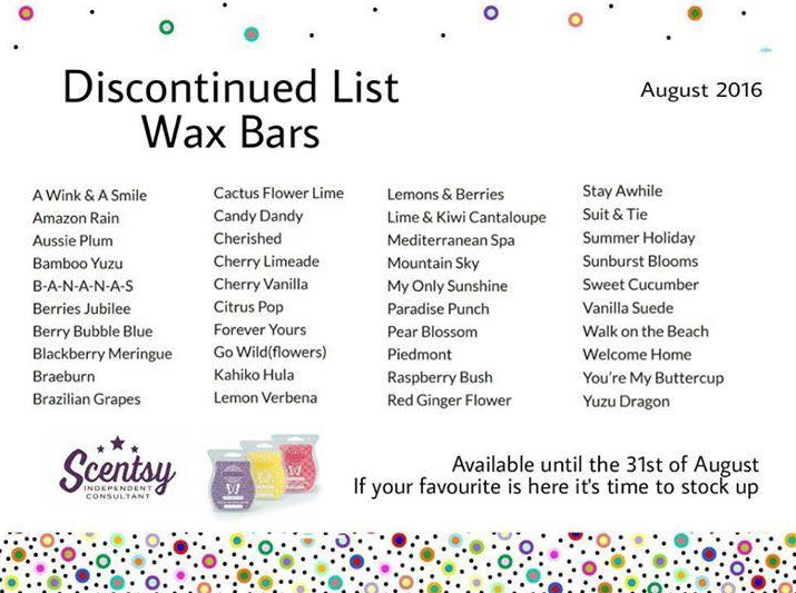 discontinued list aug 2016