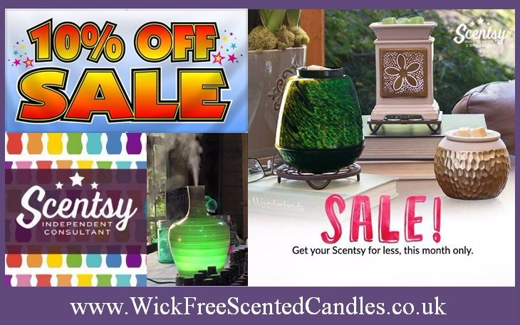 sale scentsy wickfree candles
