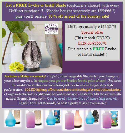 scentsy diffuser and free shade
