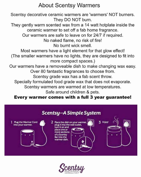 about scentsy candle warmers