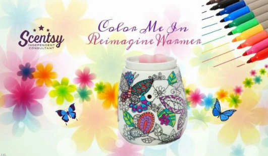 colouring scentsy warmer