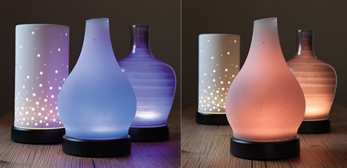 scentsy diffusers coloured and clear home fragrance