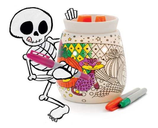 halloween colour in scentsy candle warmer