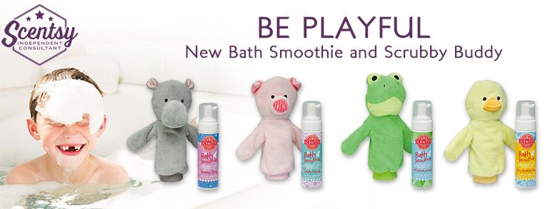 scentsy bath smoothie and scrubby buddy banner wick free scented candles