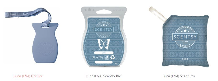 luna fragrance scentsy wick free scented candles