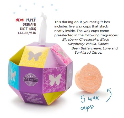 new! paper orgami gift box scentsy wick free scented candles