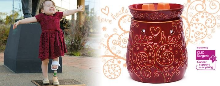 love heals candle warmer banner scentsy