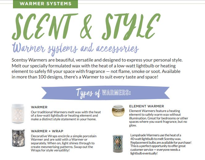 scent and style warmer systems
