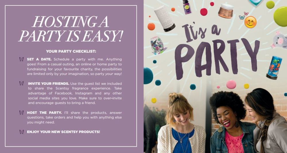 hosting a party with scentsy is easy