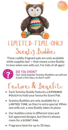 scentsy buddy features and benefits