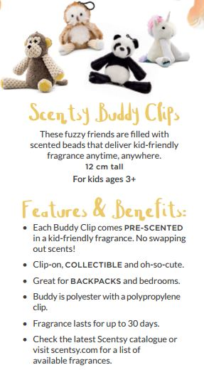 scentsy buddy clips features and benefits