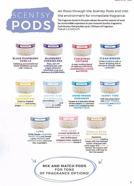 SCENTSY PODS WICK FREE SCENTED CANDLES
