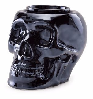 metallic skull scentsy wick free scented candles