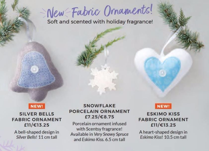 new fabric scented ornaments scentsy wick free scented candles