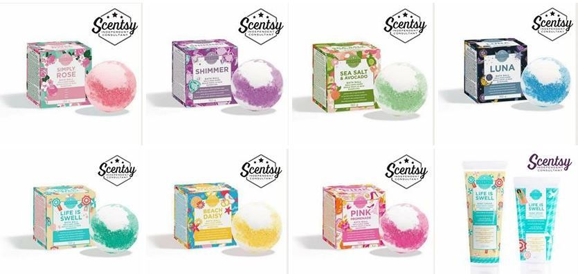 scentsy bodycare range balls and creams