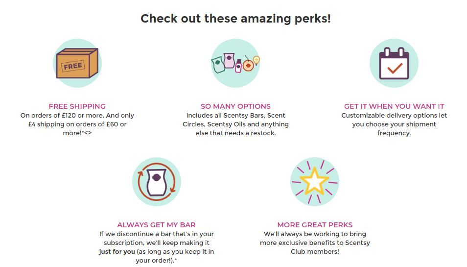 scentsy club perks wick free scented candles