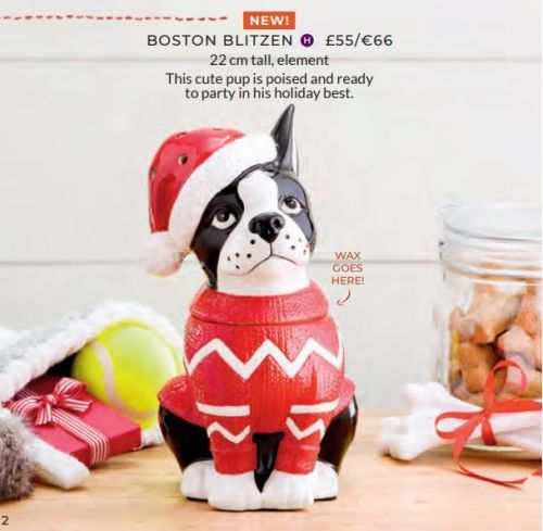 BOSTON BLITZEN SCENTSY WICK FREE SCENTED CANDLES