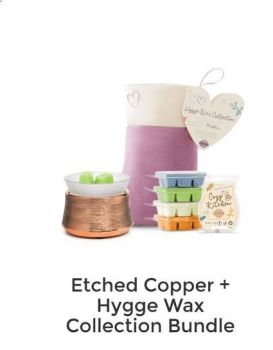 etched copper and hygge wax collection bundle