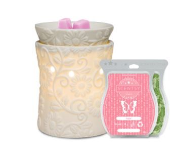 FLOWER SCENTSY CANDLES