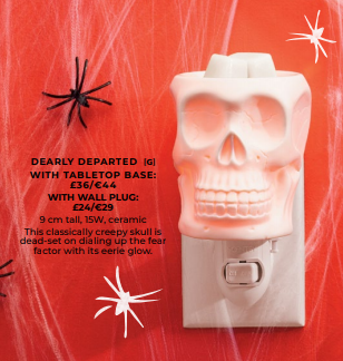 DEAPLY DEPARTED SKULL WALL PLUG IN SCENTSY