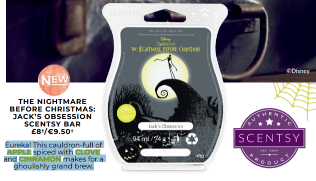 nightmare before christmas scentsy bar jacks obsession