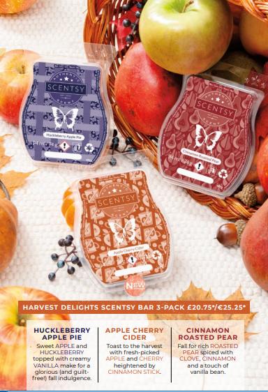 harvest delights autumn scentsy bar 3 pack bundle